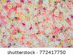 rose flower background for... | Shutterstock . vector #772417750