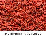 Red Background Of Goji Berry ...