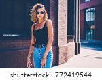 gorgeous female in dressed in...   Shutterstock . vector #772419544