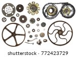collection of vintage machine... | Shutterstock . vector #772423729