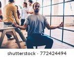 afro american male member of... | Shutterstock . vector #772424494