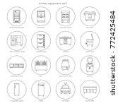 kitchen equipment for...   Shutterstock .eps vector #772425484