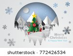 paper art and craft of... | Shutterstock .eps vector #772426534