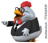 fun chicken   3d illustration | Shutterstock . vector #772426939