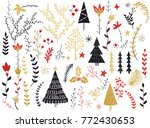 folk collection. flowers... | Shutterstock .eps vector #772430653