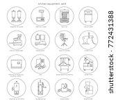 kitchen equipment for... | Shutterstock .eps vector #772431388