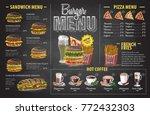 vintage chalk drawing burger...   Shutterstock .eps vector #772432303