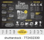 vintage chalk drawing burger... | Shutterstock .eps vector #772432330