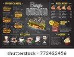 vintage chalk drawing burger... | Shutterstock .eps vector #772432456