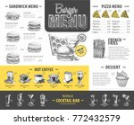 vintage burger menu design.... | Shutterstock .eps vector #772432579