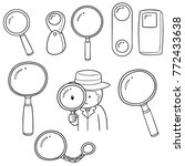 vector set of magnifying glass | Shutterstock .eps vector #772433638