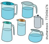 vector set of water pitcher | Shutterstock .eps vector #772436176