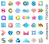 big vector set of logo design.... | Shutterstock .eps vector #772437130