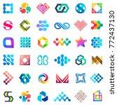 big vector set of logo design.... | Shutterstock .eps vector #772437130