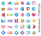 big vector set of logo design.... | Shutterstock .eps vector #772437133