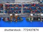 logistics and transportation of ... | Shutterstock . vector #772437874