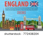 journey to england concept.... | Shutterstock .eps vector #772438204