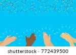 flat. applause hands clapping ... | Shutterstock . vector #772439500