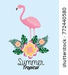 summer tropical flamengo cute...   Shutterstock .eps vector #772440580