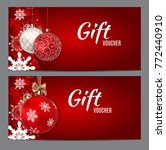 christmas and new year gift... | Shutterstock . vector #772440910