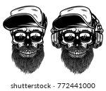 human skulls with sunglases ... | Shutterstock .eps vector #772441000