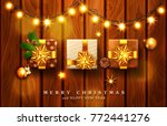 vector illustration for merry... | Shutterstock .eps vector #772441276