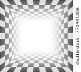 abstract checkered  room with... | Shutterstock .eps vector #772441306