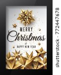 merry christmas and happy new...   Shutterstock .eps vector #772447678