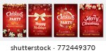 merry christmas party glass... | Shutterstock .eps vector #772449370
