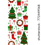 merry christmas and happy new... | Shutterstock .eps vector #772449568