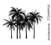 vector of palm tree silhouette...