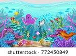 marine habitats and the beauty... | Shutterstock .eps vector #772450849