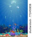 marine habitats and the beauty... | Shutterstock .eps vector #772450858