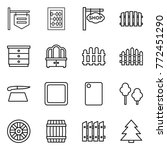 thin line icon set   shop... | Shutterstock .eps vector #772451290