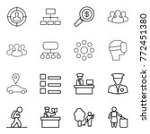 thin line icon set   target... | Shutterstock .eps vector #772451380