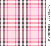 check romantic fashion seamless ... | Shutterstock .eps vector #772451740