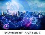 creative digital business... | Shutterstock . vector #772451878