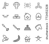 thin line icon set   courier ... | Shutterstock .eps vector #772452328