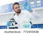 new cure. professional genius... | Shutterstock . vector #772453438