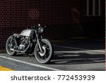custom motorbike parking near... | Shutterstock . vector #772453939