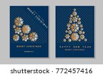 new year greeting card with... | Shutterstock .eps vector #772457416