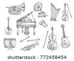 Musical Instrument Sketch Set...