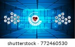 medical technology innovation... | Shutterstock .eps vector #772460530