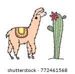 vector illustration of cute... | Shutterstock .eps vector #772461568