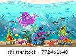 marine habitats and the beauty... | Shutterstock .eps vector #772461640