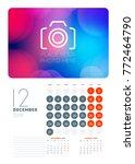 wall calendar planner template... | Shutterstock .eps vector #772464790
