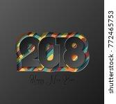 happy new year 2018   Shutterstock . vector #772465753