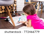 young child girl female... | Shutterstock . vector #772466779