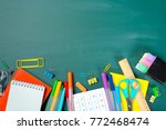 school and office supplies on... | Shutterstock . vector #772468474