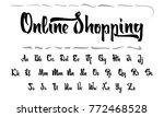 vector alphabet. calligraphic... | Shutterstock .eps vector #772468528